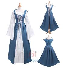 Women Renaissance Medieval Irish Fair Pirate Peasant Bodice Costume Overdress XL