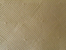 100% Silk Dupioni Quilted Geometric Fabric 10 yards  INCREDIBLE VALUE! Camel
