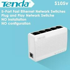 Tenda S105 5-Port Fast Ethernet Switch 10/100Mbps Unmanaged Desktop Switch Yw #D
