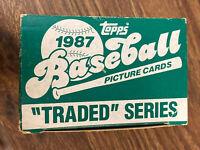 Vintage 1987 Topps Traded Set Complete MADDUX HOF McGRIFF BURKS RCs RARE NrMt/Mt