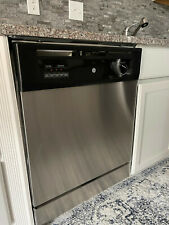 """Ge - SpaceMaker 24"""" Built-In Dishwasher - Stainless steel"""