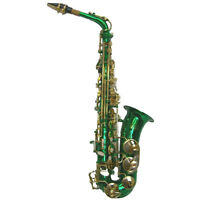 "HOLIDAY SALE! ""Sky""  Green Alto Saxophone w Backpackable Case *LIMITED TIME"
