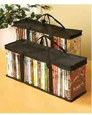 Set Of 2 Dvd Storage Bags holds 40 Dvd's Each - 80 Total!