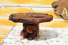 T-1 Redwood Burl Table Slab Base Juniper Wood Working Bonsai Stand Plant Stand