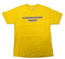 Knowlege Wave Know Wave Logo Tee T-shirt Mens Large Yellow Graphic Crew