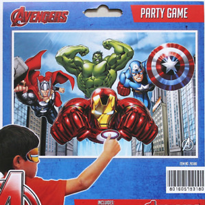 Marvel Avengers Birthday Party Game Superhero Children Pin a Tail on a Donkey
