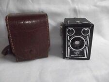 Alter Fotoapparat - Agfa - Synchro - Box mit Originaltasche aus Leder