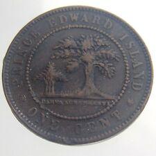 1871 PEI Prince Edward Island Canada One 1 Cent KM#4 Circulated Copper Coin V647