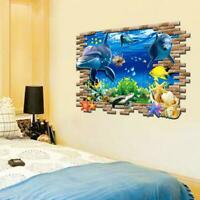 3D Wandtattoo Wandsticker Kinder Wandbilder Aquarium Meerestiere Wandaufkle N2E9