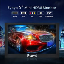 Eyoyo 5 inch Mini HDMI Monitor 800x480 Car Rear View BNC BGA AV Input Portable