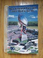 2002 New England Patriots Press Media GuideRecord Book Tom Brady