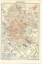 Landkarte city map 1902: Stadtplan MADRID. Spanien Hippodrom Casa del Campo