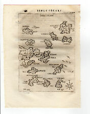 GREECE PIACENZA 1688 MAP ISOLE SOLARI HYDRA POROS SPETSES SPETSOPOULA
