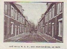 1926  --  LE MANS  CITE DE LA M.G.F.  RUE JEAN LELIEVRE  S531