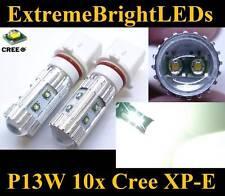 TWO HID Xenon WHITE 50W P13W 10x Cree XP-E LED Fog Daytime Running Lights bulbs