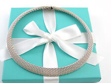 Auth Tiffany & Co Silver Somerset Necklace