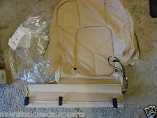 REAR TAN LEATHER SEAT BACKREST HEATED COVER OEM PORSCHE