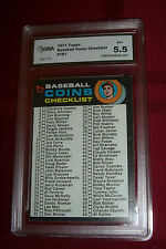 1971 TOPPS -- BASEBALL COINS CHECKLIST -- #161 -- GRADED GMA 5.5