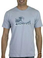Chinook Waves Screen Printed Men's T-shirt -Large