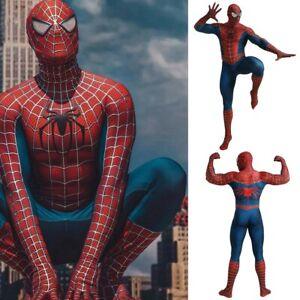 Halloween Carnival Raimi Spiderman Adults Kids Cosplay Costume Lycra Zentai Suit