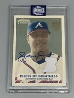 Andruw Jones 2020 Topps Archives Signature Series Retired TRUE 1/1 Auto Relic