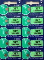 10 x SONY 377 SR626SW SR626 V377 Watch Battery US seller Exp 2022