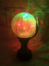 Halloween Crystal Ball LED Skeleton Hand Lighted Color Changing Night Light New