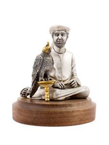 """Silver Figurine """"Falconry"""""""