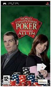 World Championship Poker Featuring Howard Lederer PSP UMD PlayStation VGUK Rele