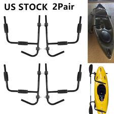 2Pair Steel Kayak Canoe Arms Storage Wall Mount Folding Hanger Rack Ladder US