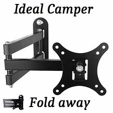 "MOTORHOME EASY WALL MOUNT TV BRACKET 14"" TO 26"" FOLDING Ideal Self Build Camper"