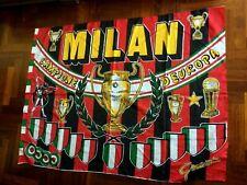 MILAN CAMPIONI D'EUROPA 1989 BARCELLONA flag 旗 scudetto bandiera vintage