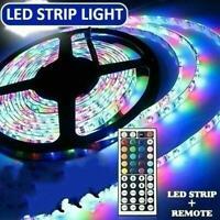 Flexible LED Strip Light USB Changing Lights TV Backlight RGB T1Y5 Remote + L5E4
