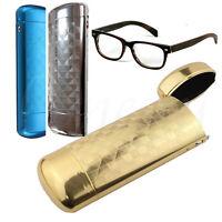 Hard Metal Glasses Case Protector Capsule Flip Top Spectacle Case Storage Box