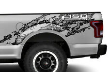 Ford F150 Torn Half Bed Graphic Kit Truck Decal Sticker Set 2015-2018 GREY SKULL