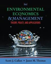 Environmental Economics and Management: Theory,.text book harcover free shipping