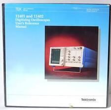 Tek Tektronix 11401 And 11402 Digitizing Oscilloscopes Users Reference Manual