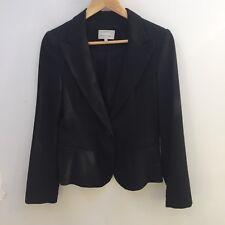 Veronika Maine sz 8 Black Pinstripe Suit/ Dress Style Blazer Jacket AS NEW