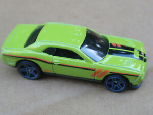 2016 Hot Wheels 15 DODGE CHALLENGER SRT 109/250 Then And Now LOOSE Green KMART