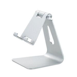 Adjustable Cell Phone Tablet Desktop Stand Desk Holder Mount Cradle Aluminium US
