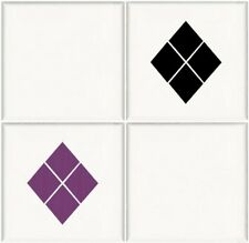 18 Diamond Square Tile Transfer Stickers Bathroom Kitchen Decal Waterproof D1