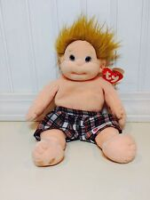 """TY Beanie Kids """"CHIPPER"""" July20, 1997 Collectible 10"""" Plush Plaid Shorts NWT"""