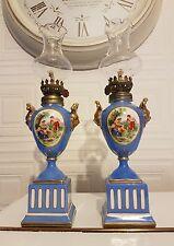 Superb Pair Of Victorian Miniature Oil Lamps