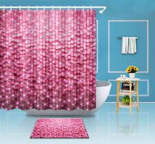 Pink Sequins Waterproof Bathroom Polyester Shower Curtain Liner Water Resistant