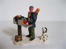 "Lemax Vintage ""Piggyback to Mailbox"" Christmas Village Figures"