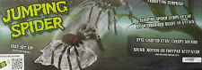 HALLOWEEN HUGE ANIMATED JUMPING SPIDER, LIGHTED EYES PROP DECORATION