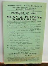 MUNN & FELTON'S (Footwear) Works Band 1p Programme c1953 London County Council
