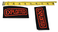 The Exploited Embroidered Jacket Patch Set of 2 New