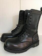 Scarpe  CULT N 37 ANFIBI BOOT PELLE COLL 2017 UOMO DONNA VINTAGE NERO