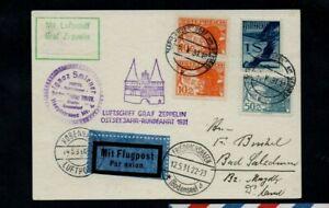 1931. ZEPPELIN PC . FRIEDRICHSHAFEN-COPENHAGEN. BALTIC SEA FLIGHT GRAF ZEPPELIN.